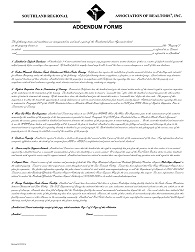 New Addendum to Residential Lease Form