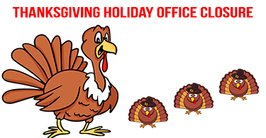 Thanksgiving Holiday Office Closure
